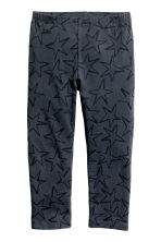 3/4-length leggings - Dark grey/Stars -  | H&M 2