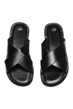 Leather sandals - Black - Men | H&M CN 2