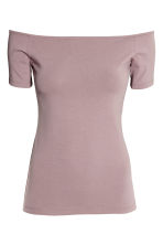 Off-the-shoulder top - Heather purple - Ladies | H&M 2