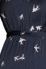 MAMA Frilled-sleeve dress  - Dark blue/Birds - Ladies | H&M 3