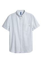 Short-sleeve shirt Regular fit - Light blue marl - Men | H&M CN 2