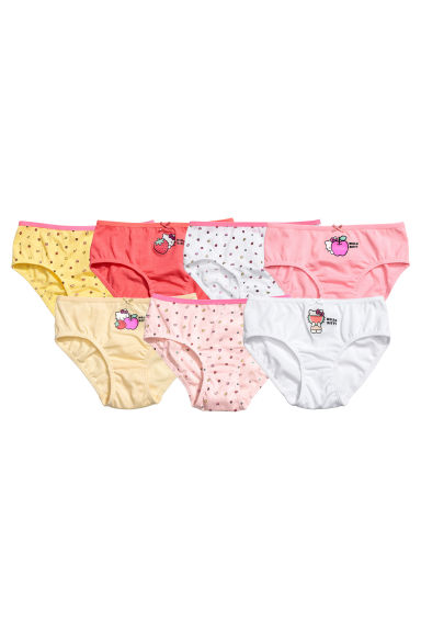 7-pack cotton briefs - Yellow/Hello Kitty -  | H&M