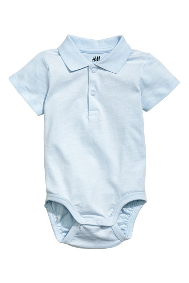 Piqué bodysuit - Light blue - Kids | H&M CA