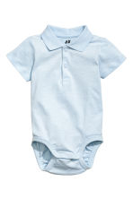 Piqué bodysuit - Light blue -  | H&M 1