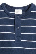 Short-sleeved bodysuit - Dark blue/Striped - Kids | H&M CN 2