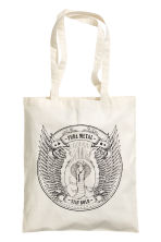 Printed tote bag - White/Snake - Ladies | H&M CN 1