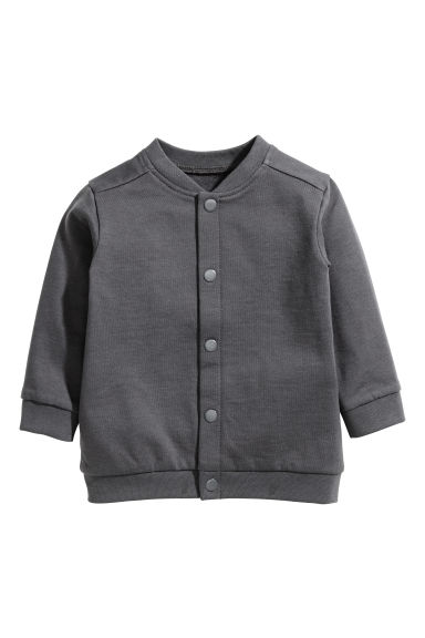 Sweatshirt cardigan - Dark grey - Kids | H&M