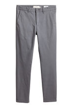 Chinos Skinny fit - Dark grey - Men | H&M CN 1