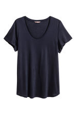 H&M+ Top in jersey - Blu scuro - DONNA | H&M IT 2