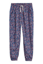 Patterned trousers - Dark blue/Floral -  | H&M 2