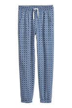 Patterned trousers - Dark blue/White -  | H&M 2