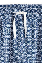 Patterned trousers - Dark blue/White -  | H&M 3