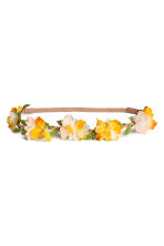 Hairband with flowers - Yellow - Ladies | H&M 1