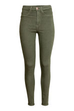 Super Skinny High Jeans - Khaki green - Ladies | H&M CN 2