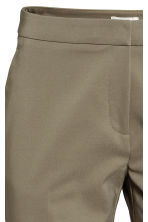 Suit trousers - Khaki green - Ladies | H&M CN 3