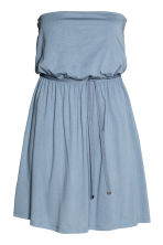 Strapless jersey dress - Grey-blue - Ladies | H&M 2