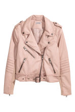 Biker jacket - Powder beige - Ladies | H&M CN 2
