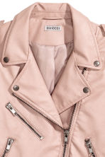 Biker jacket - Powder beige - Ladies | H&M CN 3