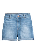 Shorts High waist - Blu denim chiaro - DONNA | H&M IT 2