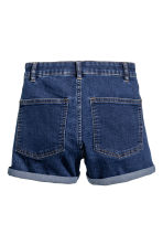 Shorts High waist - Dark denim blue - Ladies | H&M 3