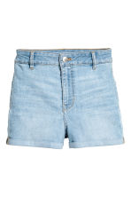 Shorts High waist - Denim blue - Ladies | H&M CN 2