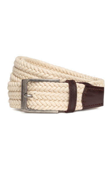 Braided belt - Light beige - Men | H&M CN