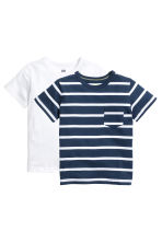 2-pack T-shirts - Dark blue/Striped -  | H&M 2