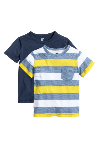2-pack T-shirts - Bright blue - Kids | H&M CN 1