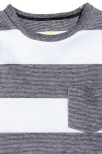 2-pack T-shirts - Black/White/Striped - Kids | H&M CA 4