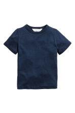 Lot de 2 T-shirts - Bleu chiné/rayé - ENFANT | H&M FR 3