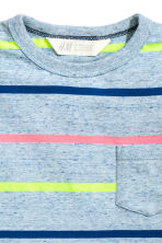 Lot de 2 T-shirts - Bleu chiné/rayé - ENFANT | H&M FR 4