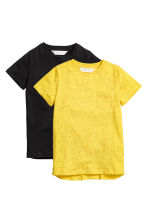 Lot de 2 T-shirts - Jaune - ENFANT | H&M FR 2
