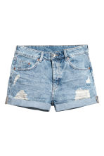 Short en jean - Bleu denim clair - FEMME | H&M BE 2