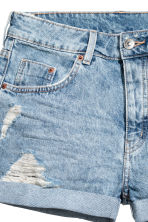 Short en jean - Bleu denim clair - FEMME | H&M BE 4