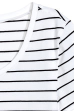 Jersey top - White/Black striped - Ladies | H&M CN 3