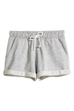 Sweatshirt shorts - Grey marl - Ladies | H&M 2