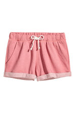 Shorts in felpa - Rosa mélange - DONNA | H&M IT 2