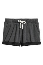 Sweatshirt shorts - Black marl - Ladies | H&M GB 2