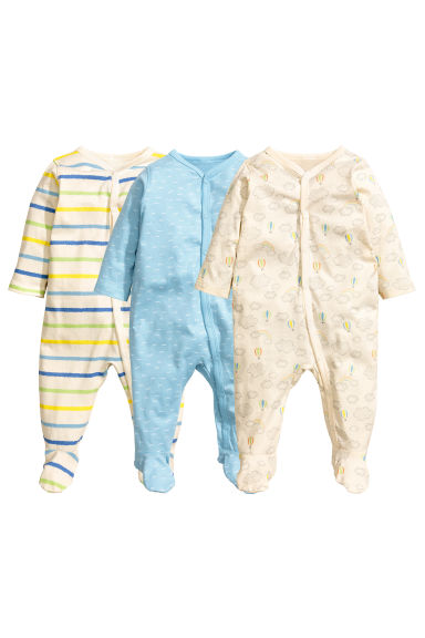 3-pack pyjamas - Light blue - Kids | H&M 1