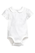 Body met korte mouwen - Wit -  | H&M BE 1