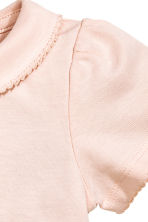 Short-sleeved bodysuit - Powder pink - Kids | H&M CN 2