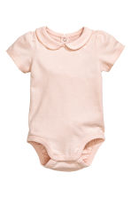 Short-sleeved bodysuit - 粉色 - Kids | H&M CN 1