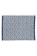 Tappetino da bagno jacquard - Blu scuro/fantasia - HOME | H&M IT 1