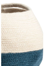 Jute storage basket - Natural white/Dark blue - Home All | H&M CN 2