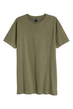 Long T-shirt - Khaki green - Men | H&M 2