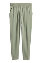 Pull-on trousers - Khaki green - Ladies | H&M CN 2