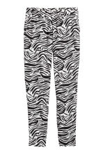 Pull-on trousers - Zebra print - Ladies | H&M 2