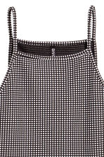 Textured jersey dress - Black/Spotted - Ladies | H&M 3