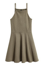 Textured jersey dress - Khaki green - Ladies | H&M 2