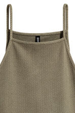 Textured jersey dress - Khaki green - Ladies | H&M 3